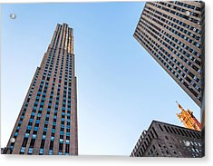 Acrylic Print featuring the photograph 30 Rock by Alison Frank