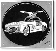 300 Sl Gullwing Acrylic Print by Peter Piatt