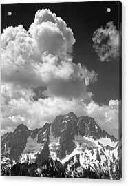 304638 Clouds Over Mt. Stuart Bw Acrylic Print