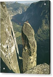 306540 Climbers On Lost Arrow 1967 Acrylic Print
