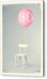 30th Birthday Acrylic Print by Edward Fielding