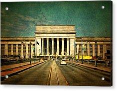 30th Street Station Traffic Acrylic Print by Trish Tritz