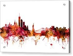 New York Skyline Acrylic Print