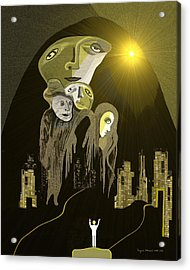 316  Arrival Of The Gods A  Acrylic Print
