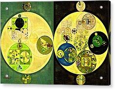Abstract Painting - Onyx Acrylic Print by Vitaliy Gladkiy
