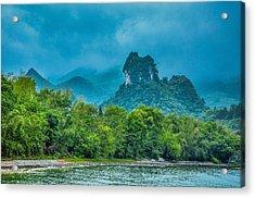Karst Mountains And Lijiang River Scenery Acrylic Print