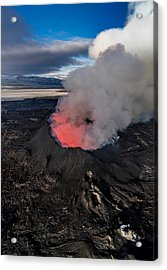 Volcano Eruption At The Holuhraun Acrylic Print by Panoramic Images