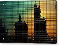 333 Wacker Reflecting Chicago Acrylic Print by Steve Gadomski