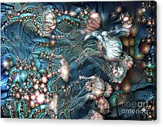 Abstract Jellyfish Acrylic Print by Amy Cicconi