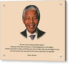 34- No One Is Born Hating Acrylic Print by Joseph Keane