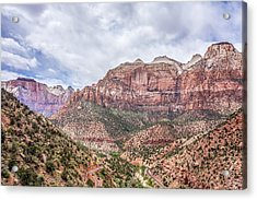 Zion Canyon National Park Utah Acrylic Print