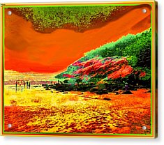 34g   Beach After A Storm Acrylic Print by Ed Immar