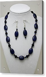 3555 Lapis Lazuli Necklace And Earring Set Acrylic Print