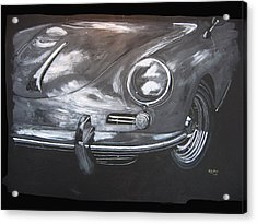 Acrylic Print featuring the painting 356 Porsche Front by Richard Le Page