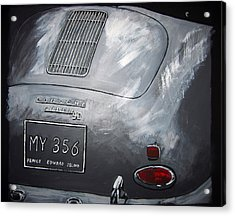 Acrylic Print featuring the painting 356 Porsche Rear by Richard Le Page