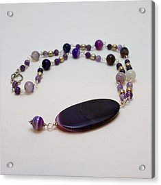 3573 Banded Agate Necklace  Acrylic Print by Teresa Mucha