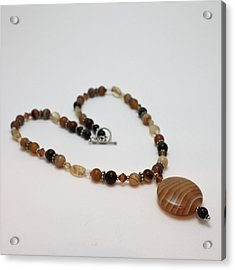 3574 Coffee Onyx Necklace Acrylic Print by Teresa Mucha
