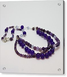 3580 Amethyst And Adventurine Necklace Acrylic Print by Teresa Mucha