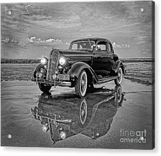 36 Plymouth Reflections Pencil Sketch Acrylic Print