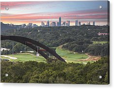 360 Bridge And Downtown Austin 2 Acrylic Print