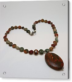 3600 Picasso Jasper Necklace Acrylic Print by Teresa Mucha