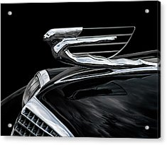 37 Cadillac Hood Angel Acrylic Print by Douglas Pittman