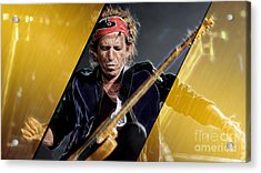 Keith Richards Collection Acrylic Print by Marvin Blaine