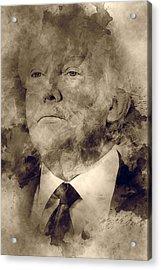 Donald Trump Acrylic Print by Elena Kosvincheva