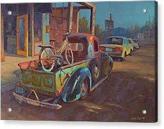 38' Ford In Jerome, Az Acrylic Print