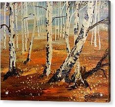 #38 Last Leaves Acrylic Print