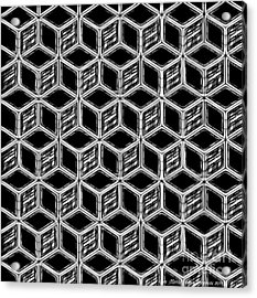 3d Blackstep Acrylic Print