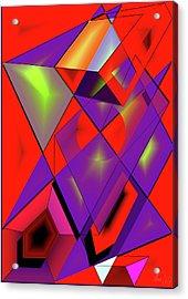 3d-cubes Acrylic Print by Helmut Rottler