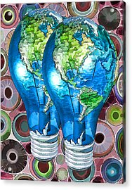 3d Render Of Planet Earth 15 Acrylic Print by Lanjee Chee