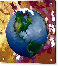3d Render Of Planet Earth 19 Acrylic Print