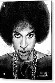 3rd Eye Girl - Prince Charcoal Portrait Drawing - Ai P Nilson Acrylic Print