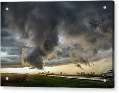 Acrylic Print featuring the photograph 3rd Storm Chase Of 2018 051 by NebraskaSC