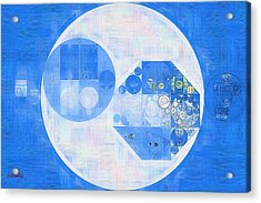 Abstract Painting - Denim Acrylic Print