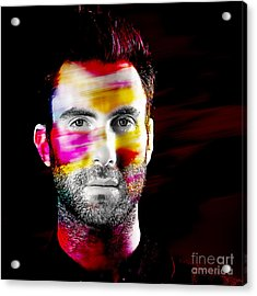 Adam Levine Collection Acrylic Print by Marvin Blaine