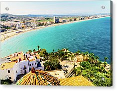 Aerial Panoramic View Of Peniscola City In Spain Acrylic Print