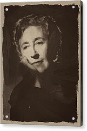 Agatha Christie 1 Acrylic Print by Afterdarkness