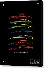 American Sports Car Silhouettehistory Acrylic Print by Gabor Vida