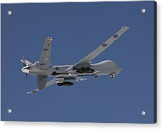 An Mq-9 Reaper Flies A Training Mission Acrylic Print by HIGH-G Productions