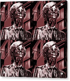 Andy Warhol Statue Union Square Nyc  Acrylic Print by Robert Ullmann