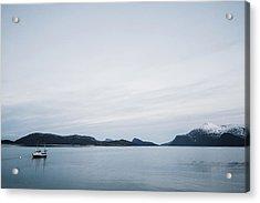 Arctic Landscape In Northern Norway, Tromso Region Acrylic Print by Aldona Pivoriene