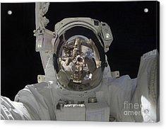 Astronaut Uses A Digital Still Camera Acrylic Print