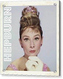 Audrey Hepburn Acrylic Print by John Springfield