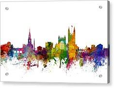 Bath England Skyline Cityscape Acrylic Print