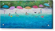 Beach Umbrellas Acrylic Print by Jan Matson