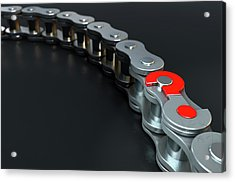 Bicycle Chain Missing Link Acrylic Print