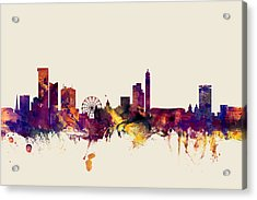 Birmingham England Skyline Acrylic Print